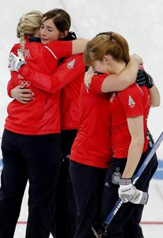 Winning the bronze in curling was an emotional moment for the British team.
