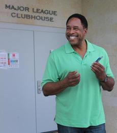 The team had its annual Player's Association meeting before Saturday's workout. Hall of Famer Dave Winfield, who is currently the special assistant to the Executive Director of the Major League Baseball Player's Association, flashed his trademark smile as he came out of the clubhouse.
