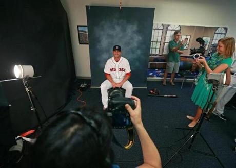 Will Middlebrooks sat for a portrait.