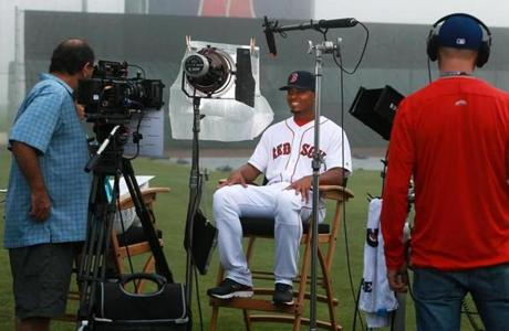 Xander Bogaerts sat down for a video.