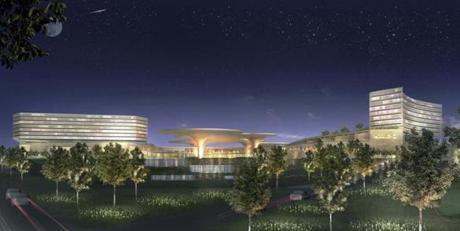 The proposed casino development at Suffolk Downs.