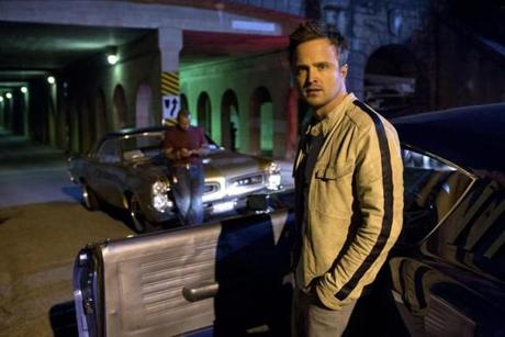 "Aaron Paul plays Tobey Marshall, a master mechanic and street racer, in ""Need for Speed."""
