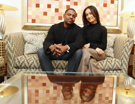 Mekhi Phifer and Maggie Q at a promotional event for the film.