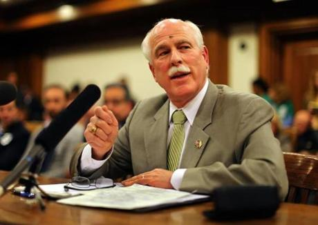 Bristol County Sheriff Thomas Hodgson told legislators the bill would reward people who have violated federal law.
