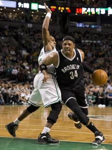Pierce was later fouled by Rondo in the fourth quarter.