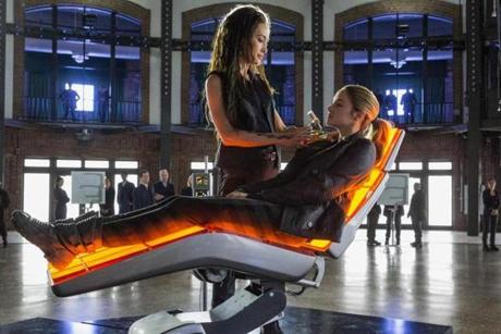 "Maggie Q and Shailene  Woodley in ""Divergent."""