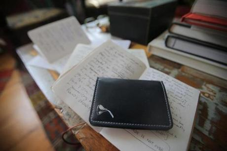 Glass keeps ideas stashed in little notebooks.