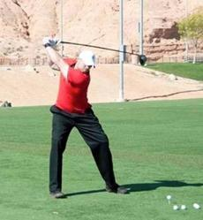 Like his twin brother, Jared Brentz is a power hitter — only he launches golf balls.