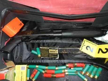 Police confiscated a shotgun and ammunition from Arianna Talbert's Dorchester apartment last year.