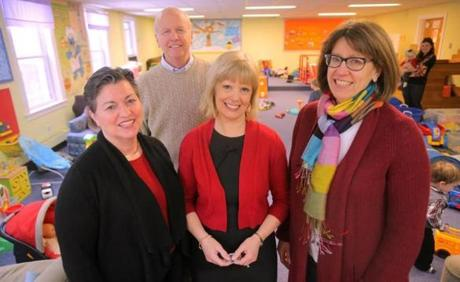 Key figures in the nonprofit resource for parents, children, and caregivers include Anna Bastian, Rebecca Mooney, and Janet Nevin, backed by the Rev. Larry Starr.