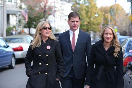 Higgins, shown with Walsh and her daughter, Lauren. Higgins says Walsh and Lauren have developed a close relationship over the years.