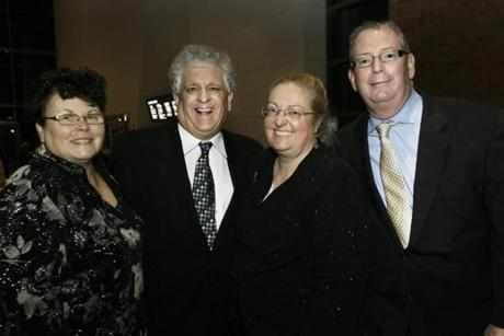 From left: Donna and Jim Cassetta of Swampscott with Elisa and Jim Cawley of Hyde Park.