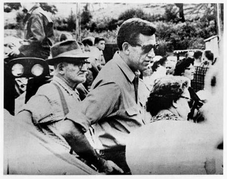 J.D. Salinger attends the Cornish Fair in New Hampshire in this undated photo.