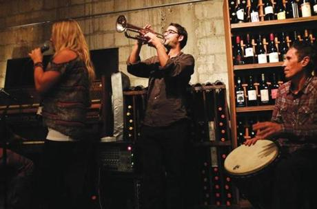 Lagniappe, a modest wine bar, features live tunes most nights.