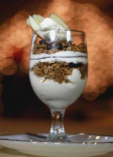 Greek yogurt with granola.
