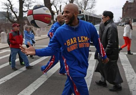 BOSTON, MA - 3/25/2014: Globetrotters Derick