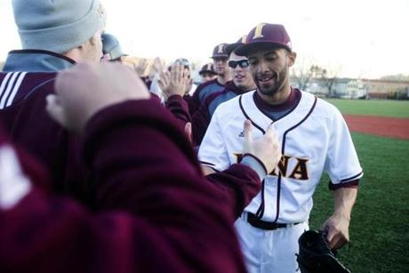 """I would play for the Red Sox,"" says potential draft pick Mariano Rivera Jr., right."