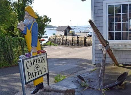 Captain and Patty's has its views, and a restaurant and lounge upstairs and picnic tables for eating your seafood basket outdoors.