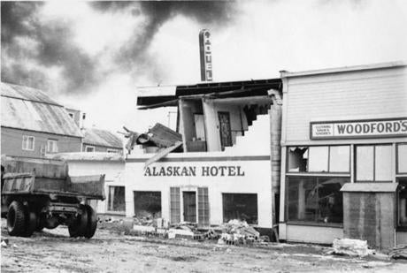 The Valdez Museum has unveiled a permanent exhibition, which includes photographs of the 1964 earthquake.