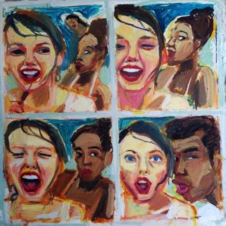 A painting by Elizabeth Grammaticas, based on a picture tweeted by Taylor Swift.