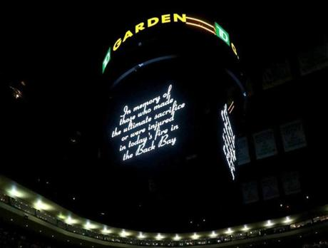 A moment of silence was held at TD Garden before the Celtics game.