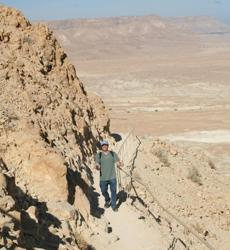 Masada, the last sanctuary for the Israelites before they were massacred by the Romans in 73 AD.