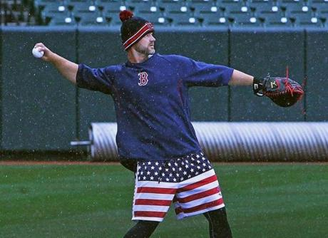 The American flag shorts seen on Ross and other players had the years of the franchise's World Series Championships printed on them.