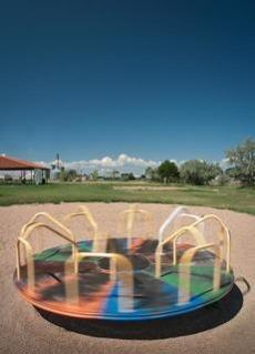 A playground in Hudson, Colo.