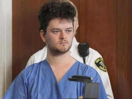 Kevin Edson, 25, was arraigned Wednesday in Boston Municipal Court.
