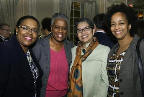 From left: Donna Latson Gittens, Dr. Nancy Norman, and Cheryl Straughter, all of Dorchester, and Dr. Hisla Bates of Jamaica Plain.