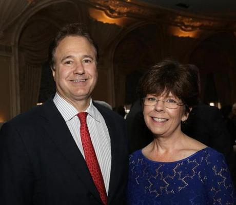 More than 375 guests recently attended the Massachusetts Society for the Prevention of Cruelty to Children's ''Together Against Abuse.'' The event, at the Fairmont Copley Plaza, raised $700,000 for the organization. Co-chair Steve Pagliuca of Weston and MSPCC President and CEO Mary McGeown of Winchester.
