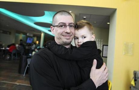 Jesse Reynolds with his 3-year-old son, Cole.