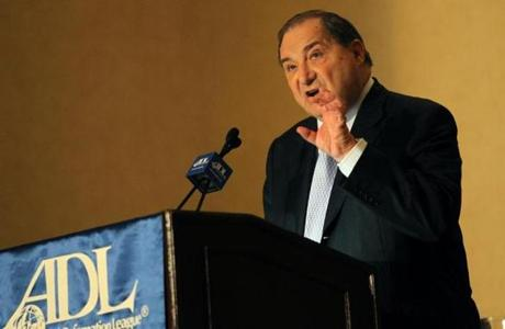 National Director of the ADL Abraham H. Foxman delivers the keynote address during the ADL national meeting in 2010.