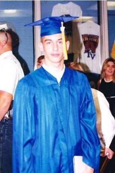 Jesse Reynolds graduates from Tri-West High School in Lizton, Indiana in 1997.