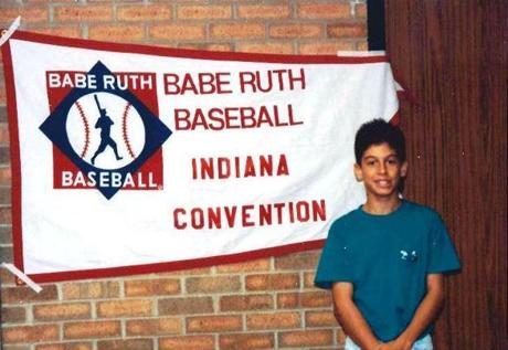 Jesse Reynolds at age 13 as a member of the state all-start team at the Indiana Convention of Babe Ruth Baseball.