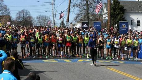 More than 32,000 runners started the race, and 99 percent finished.
