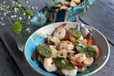 Pickled shrimp Willis made with his wife, Barbara.