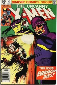 The cover of X-Men comics 142.