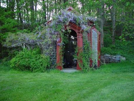There are only five tramp houses still standing in Massachusetts, including this one that is used to entertain guests at a private home in Kingston.