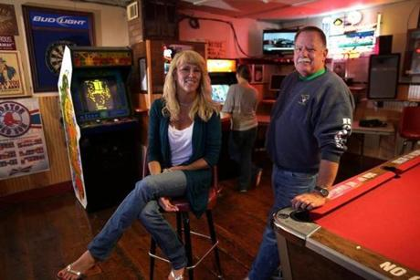 Kristin Croft, owner of the Roadhouse in Marshfield, called her father's old partner, John Maguire, and asked him to take the arcade games out of storage when the town's ban on video games ended.