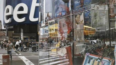 11. Richard Estes (United States, born 1932), Time Square, 2004, oil on canvas 37 x 64 inches. Private collection. @ Richard Estes, courtesy Marlborough Gallery, New York / 08estes -- 08ticketart
