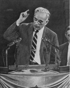Representative John McCormack made a case for adopting a controversial Democratic platform in Chicago in 1956.