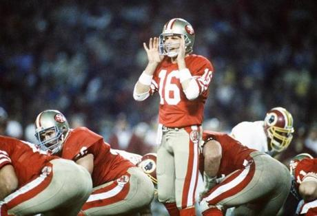 Joe Montana became the symbol of the 49ers when he led the team to four Super Bowls titles.