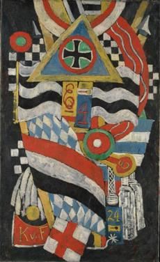 """Portrait of a German Officer,"" a 1914 painting by Marsden Hartley."