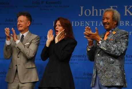 From left: Lyle Lovett, Rosanne Cash, and Allen Toussaint.