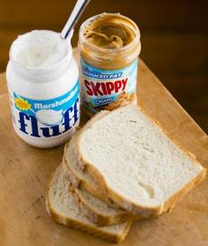 The easiest New England sandwich of all: Spread Marshmallow Fluff (invented in Somerville) on white bread with peanut butter for a Fluffnutter.