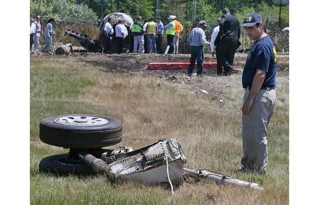 NTSB investigators were on the scene Monday.