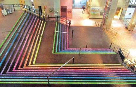Stairs of Fabulousness: This winner uses nonskid tape on City Hall's stairs to make them