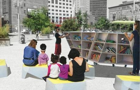 Portable Reading Room: The room will start on the Greenway, where it can be used all season.