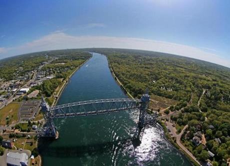 CAPE COD, MA - 5/30/2014: CAPE COD CANAL 100th Anniversary 1914-2014....Buzzards Bay Side. AERIAL (David L Ryan/Globe Staff Photo) SECTION: MAGAZINE TOPIC C